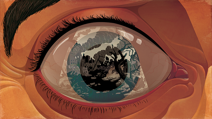 paul lachine illustrations eye